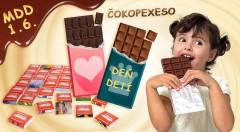 Zľava 52%: Sladký darček z pravej belgickej čokolády poteší každé malé i veľké dieťa. Potešte všetky deti na MDD originálnou čokoládou s vlastným motívom a textom alebo 18-dielnym čokopexesom!