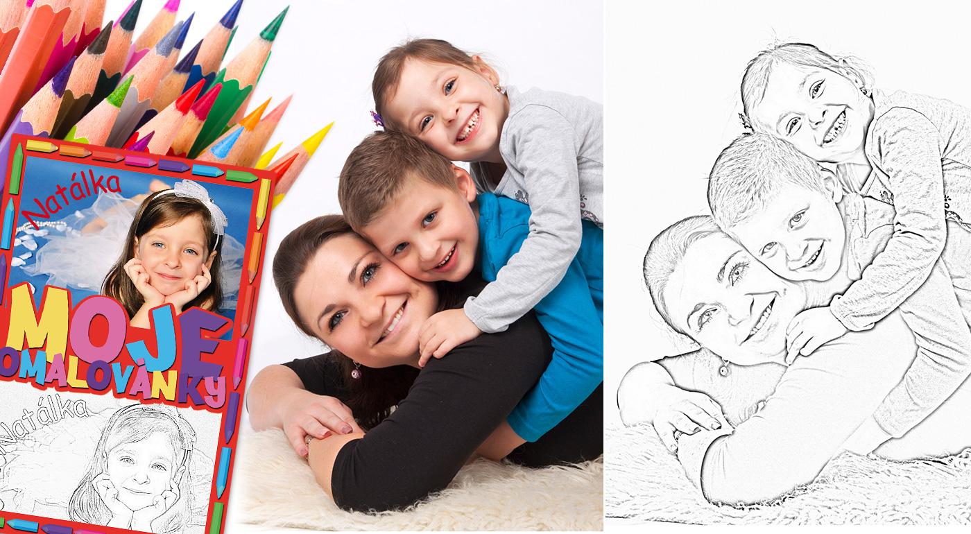 Potešte svoje deti krásnymi omaľovankami s vlastnou fotografiou