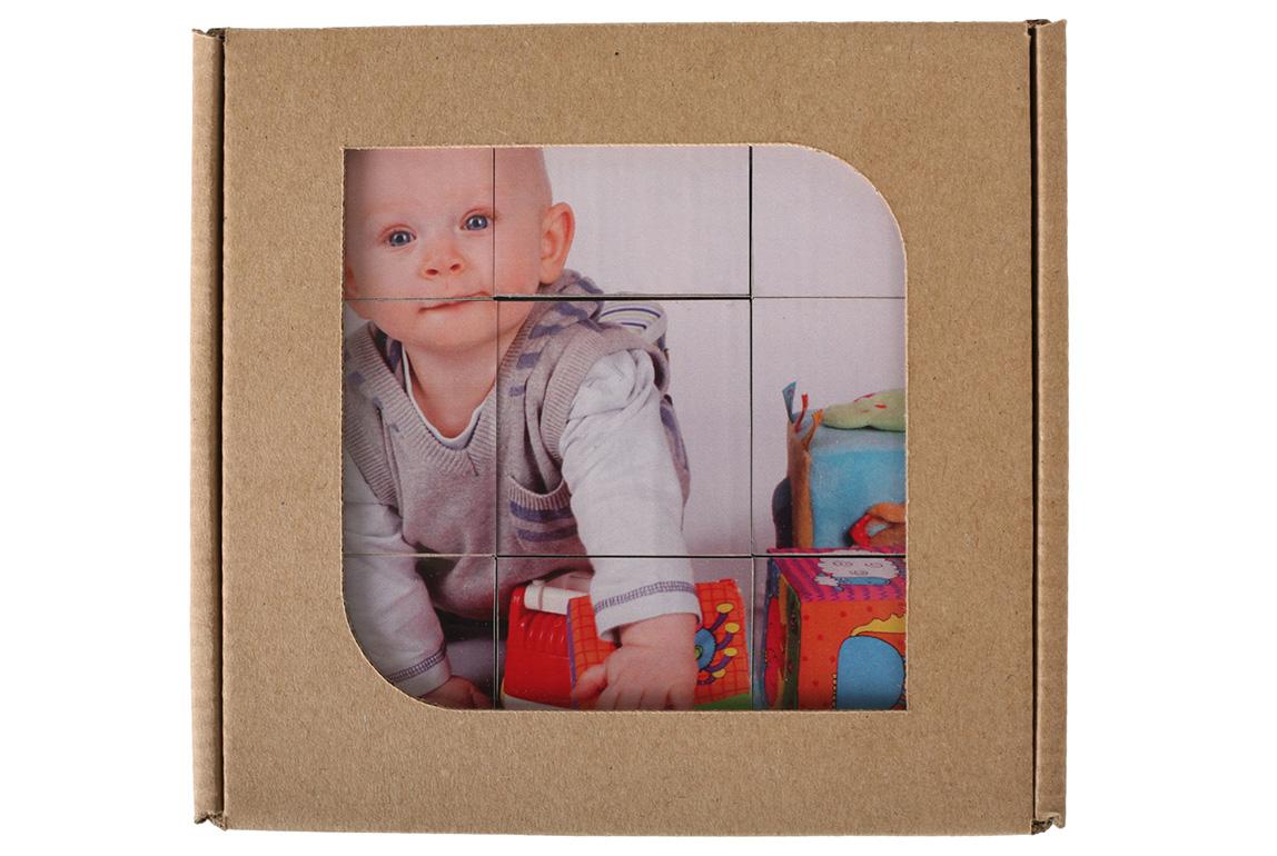 Detské kocky s fotopotlačou v darčekovej krabičke - 9 kociek v balení