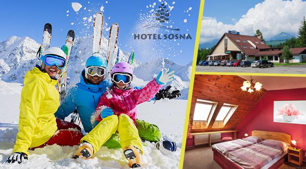 Doprajte si 3 alebo 4 relaxačné dni v Hoteli Sosna s výhľadom na nádherné štíty Vysokých Tatier