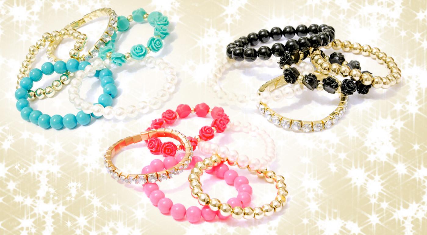 Nádherný set perlových náramkov, ktorý sa bude hodiť k akémukoľvek oblečeniu!