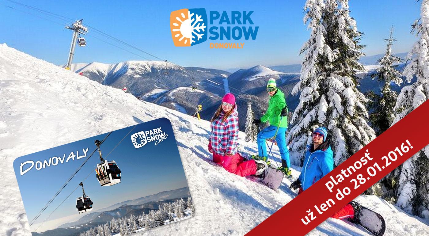 PARK SNOW Donovaly - ŠPECIÁLNA AKCIA na 6-hodinový skipas