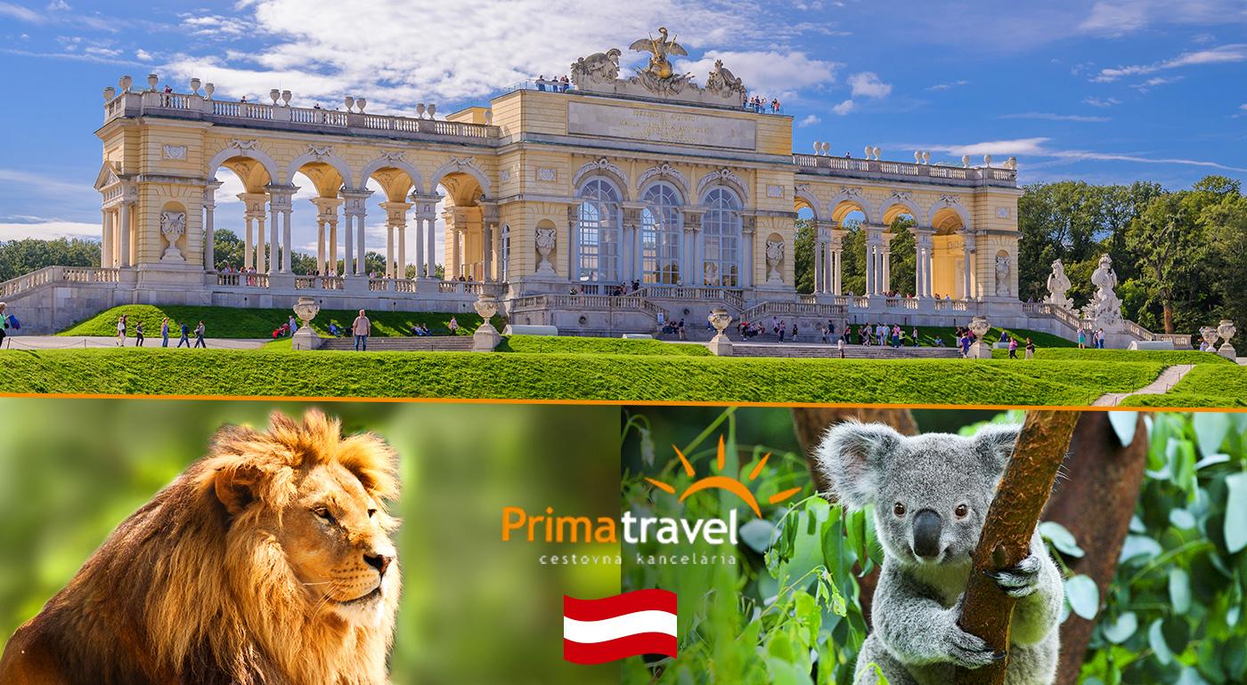Fotka zľavy: Jednodňový zájazd do Viedne za 16,90 € - prehliadka najstaršej ZOO v Európe i zámku Schönbrunn s nádhernými francúzskymi záhradami.