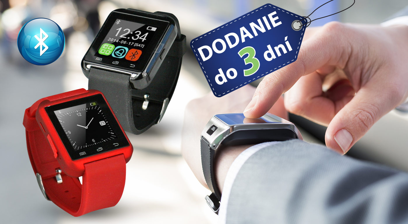 Nová generácia hodiniek - inteligentné hodinky Smart Watch! Na výber v 3 farebných prevedeniach.