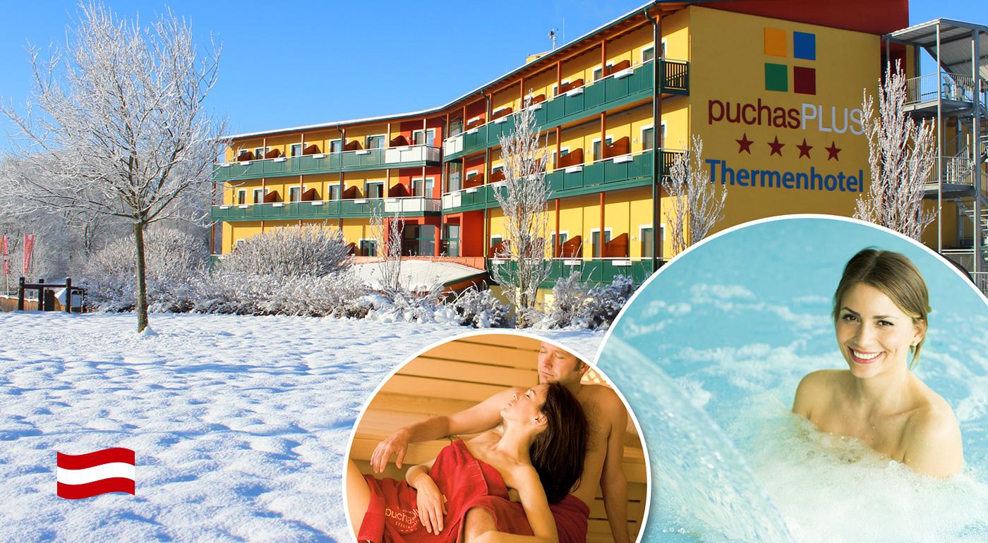Thermenhotel PuchasPLUS**** - úžasné 2, 3 alebo 4 relaxačné dni plné špičkových služieb v južnom Rakúsku. Dieťa do 3 rokov zadarmo!