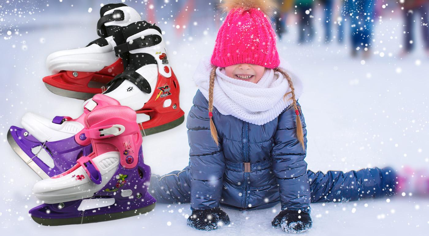 Veľa zábavy s detskými Disney korčuľami na ľad alebo kolieskovými korčuľami!