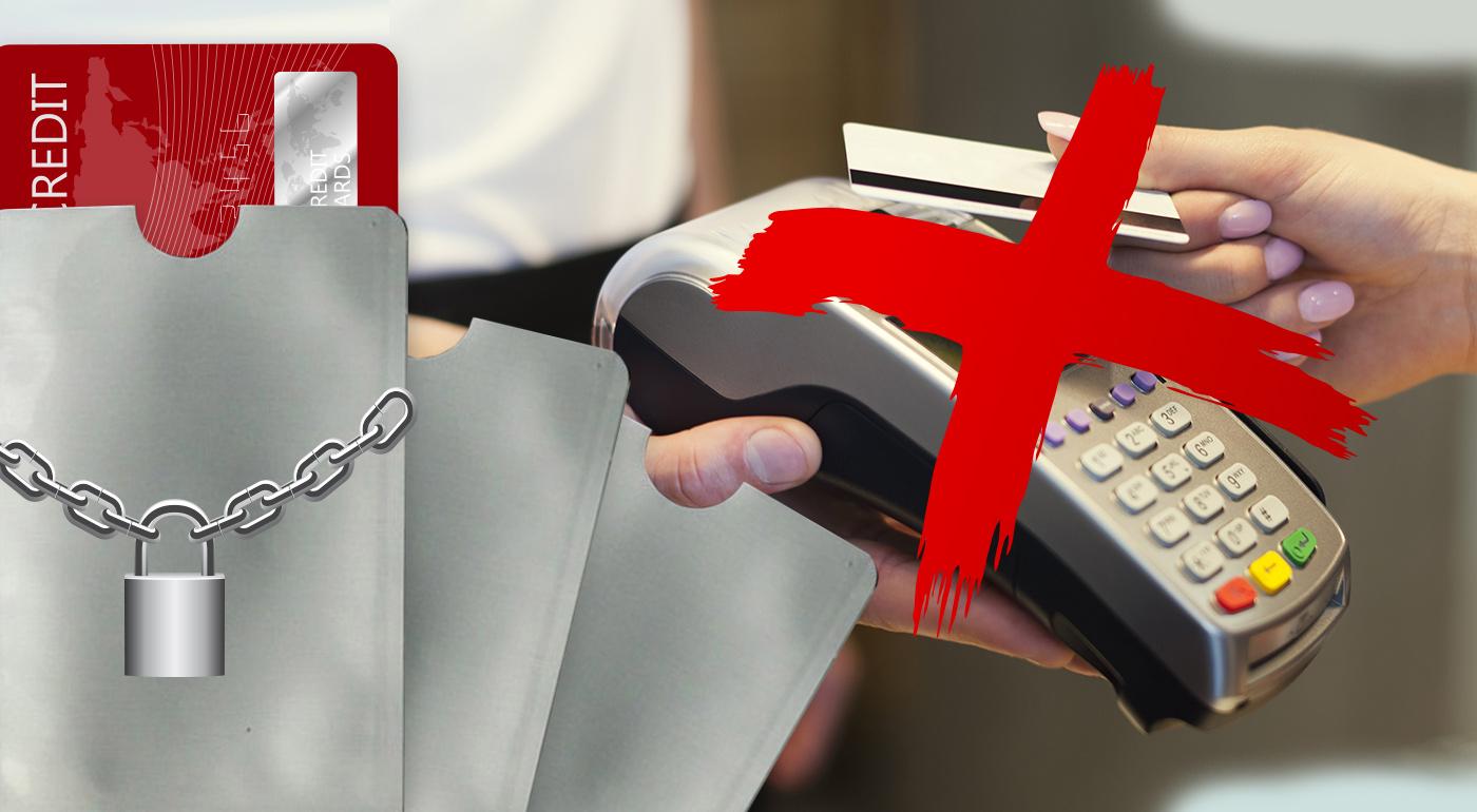 Bezpečnostný obal na bezkontaktnú bankomatovú kartu alebo bezpečnostné puzdro na viacero kariet