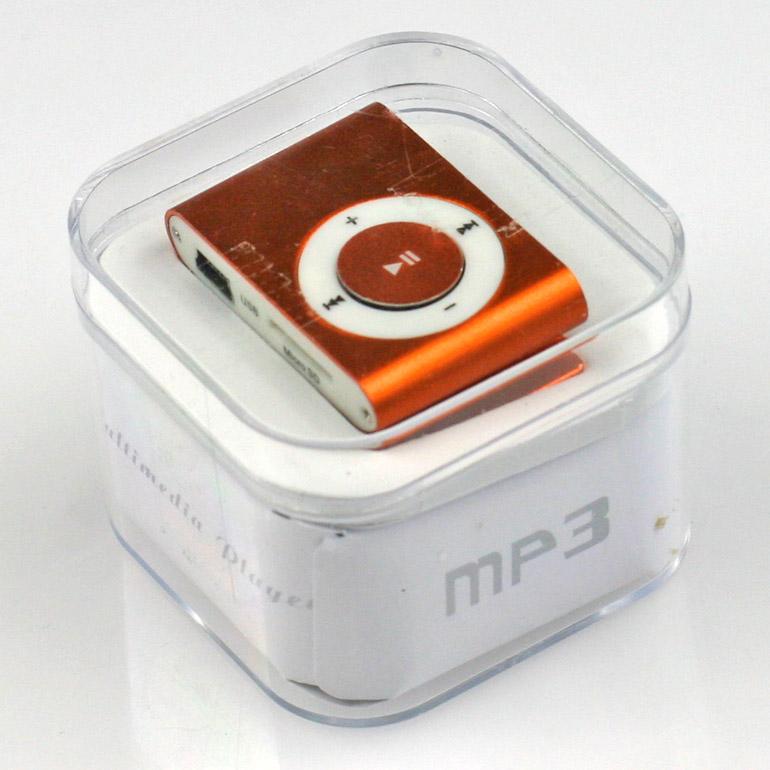 MP3 - mini prehrávač oranžový