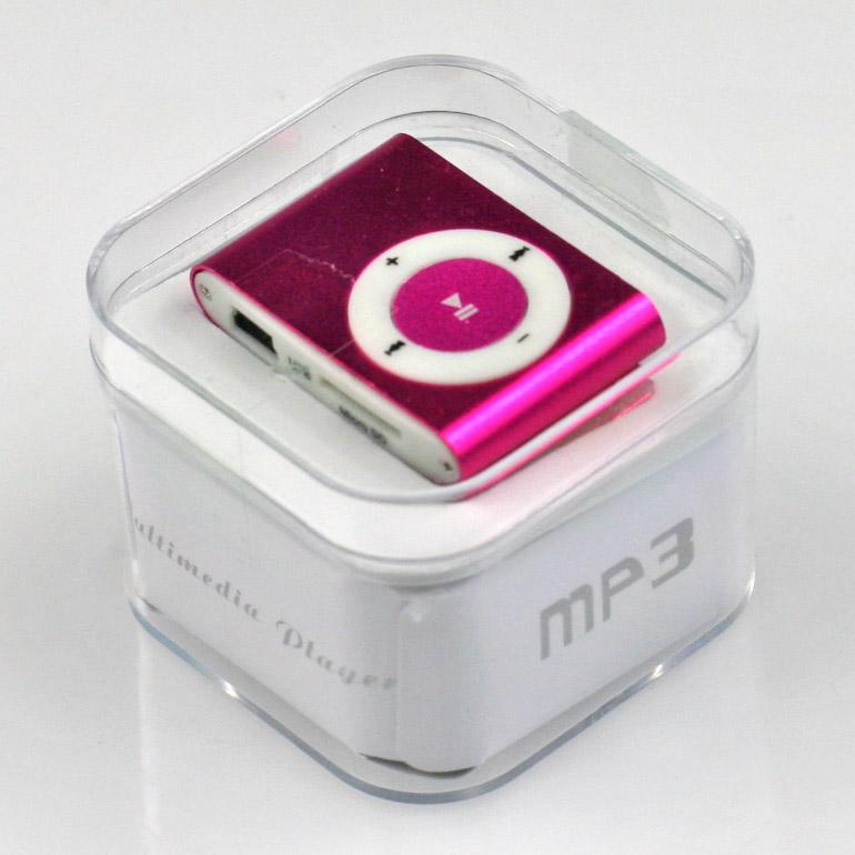 MP3 - mini prehrávač ružový