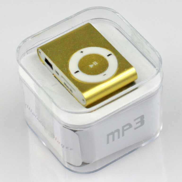 MP3 - mini prehrávač zlatý
