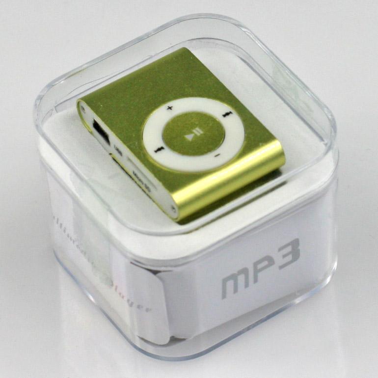 MP3 - mini prehrávač zelený