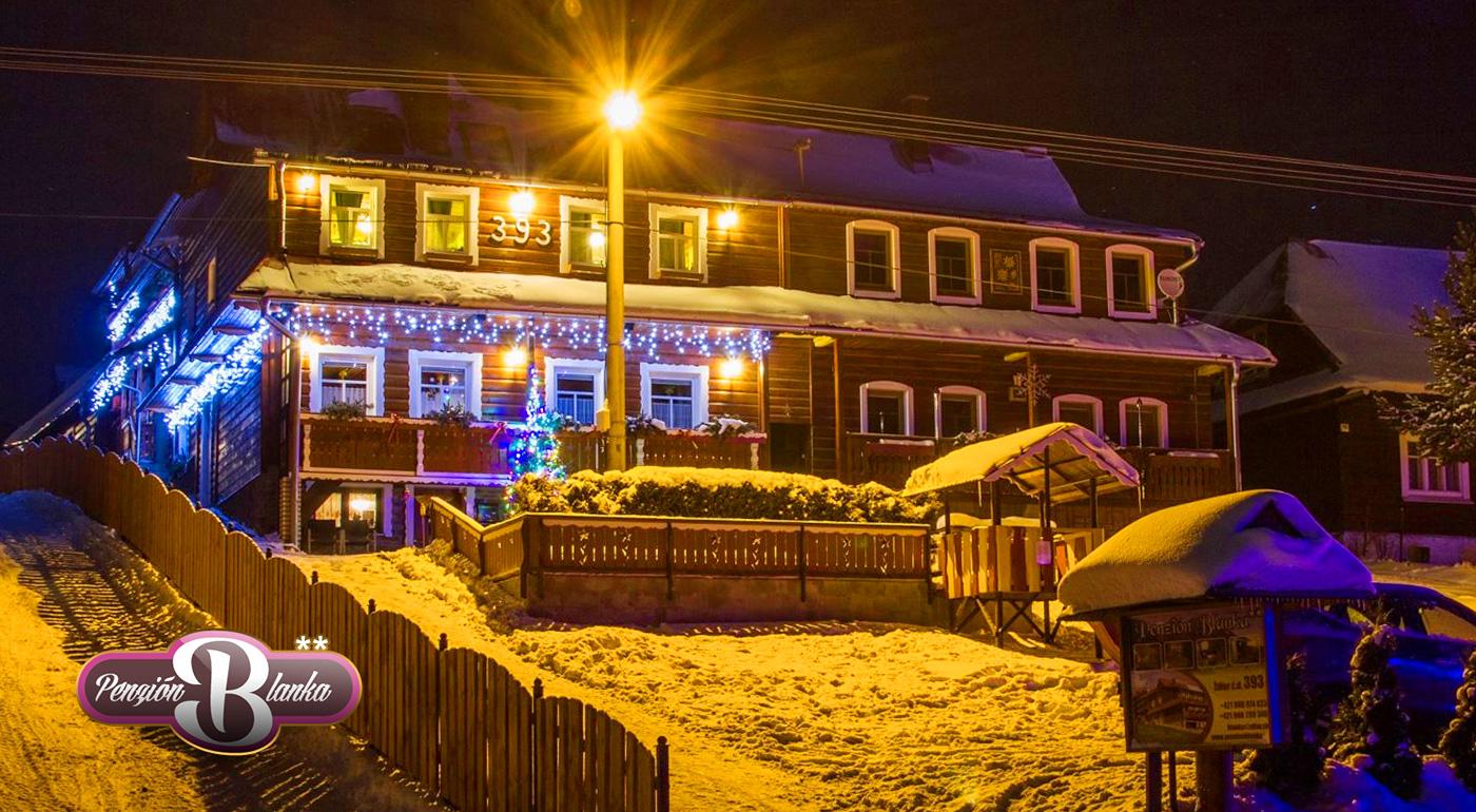 Zima pod tatranskými vrcholmi v rodinnom Penzióne Blanka v Ždiari. Dieťa do 3 rokov zadarmo!