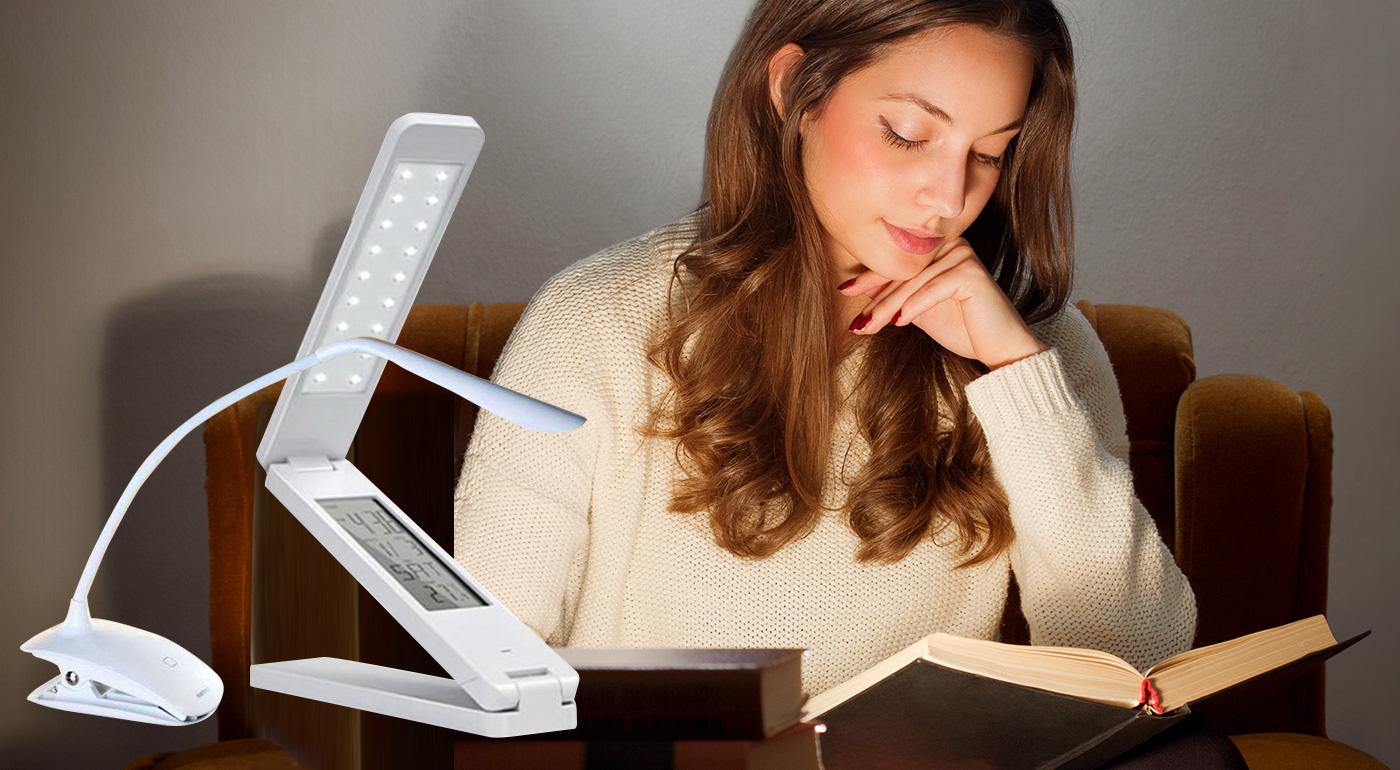 LED dotykové stolné lampy - na výber s husím krkom alebo s kalendárom, hodinami a stmievaním