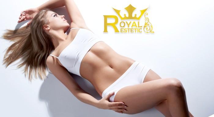 Zľava 80%: Krásna štíhla postava a vypnutá pleť vďaka ošetreniu lipolaserom a rádiofrekvenciou len za 9,90 € - dosiahnite svoj vytúžený vzhľad v Royal Esthetic! Akcia 3+1 zadarmo.