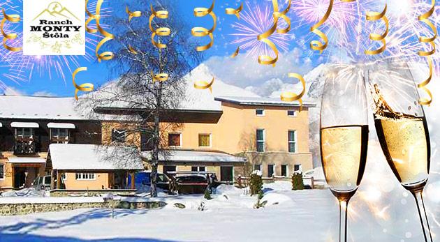 Oslavy Nového roka uprostred nádhernej prírody Vysokých Tatier v penzióne Monty Ranch s polpenziou. Dieťa do 6 rokov zadarmo!