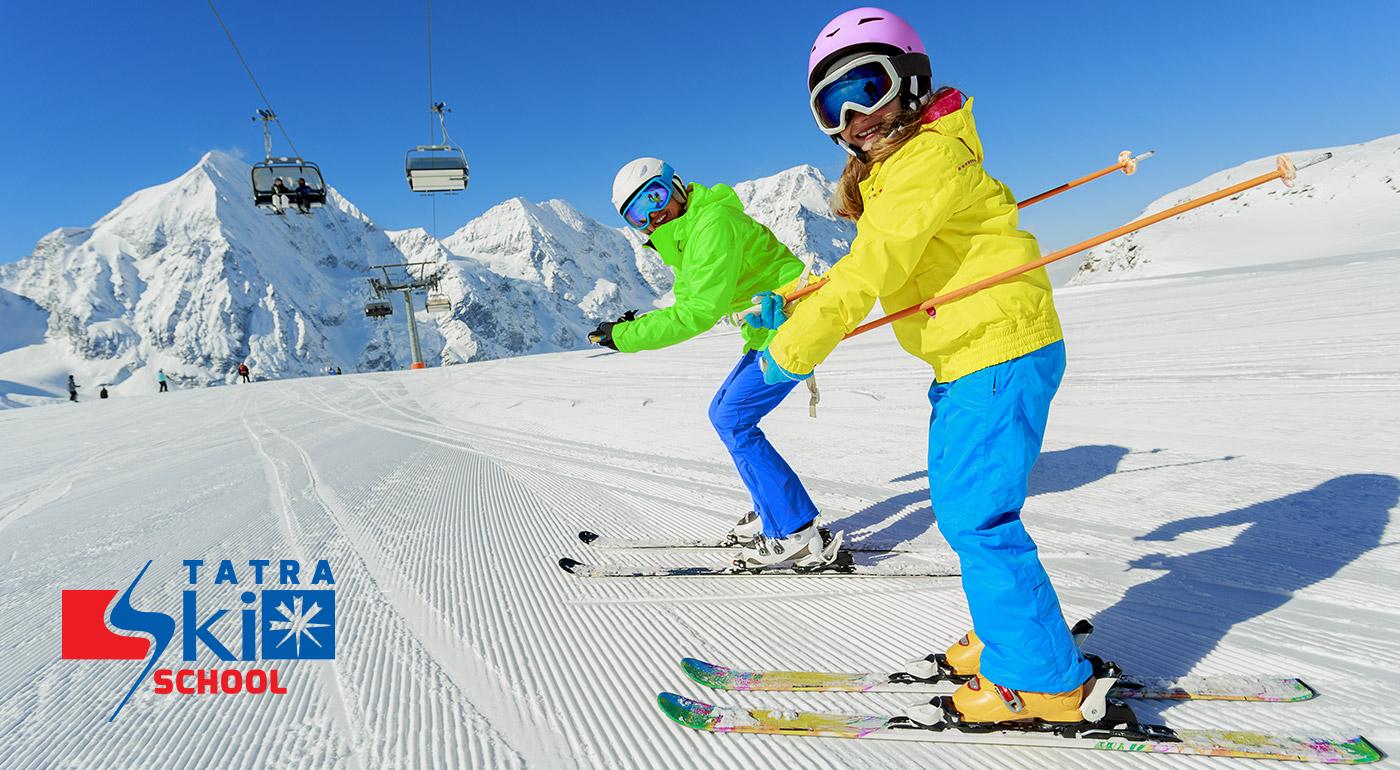 2-hodinová individuálna lekcia lyžovania alebo snowboardovania pre deti alebo dospelých v lyžiarskom stredisku Štrbské Pleso