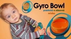 Gyro Bowl - jedinečná neprevrátiteľná miska - šikovná a praktická pomôcka pre deti i rodičov