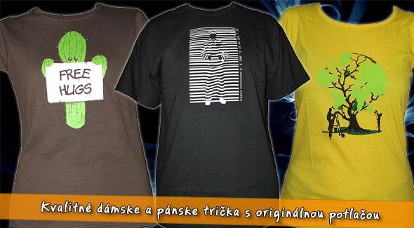 e8ad651b9bae Kvalitné dámske a pánske tričká s trendy potlačou.