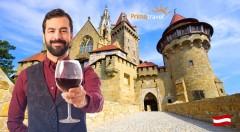 Zľava 41%: Skvelý deň plný zážitkov v Dolnom Rakúsku - návšteva romantického zámku Kreuzenstein a vinárskej dedinky Poysdorf len za 22,90 € s možnosťou jazdy po viniciach na traktore či ochutnávky vín!