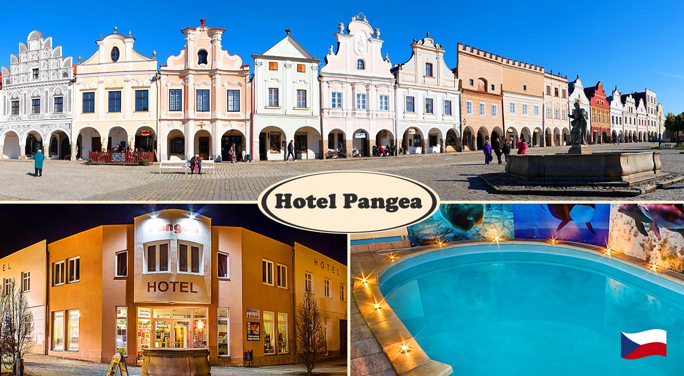 Fotka zľavy: Objavte krásu historického mesta Telč zapísaného v UNESCO počas 3 dní v Hoteli Pangea*** len za 105 € pre dvoch s raňajkami, neobmedzeným využívaním bazéna, konzumáciou v kaviarni a ďalšími bonusmi!