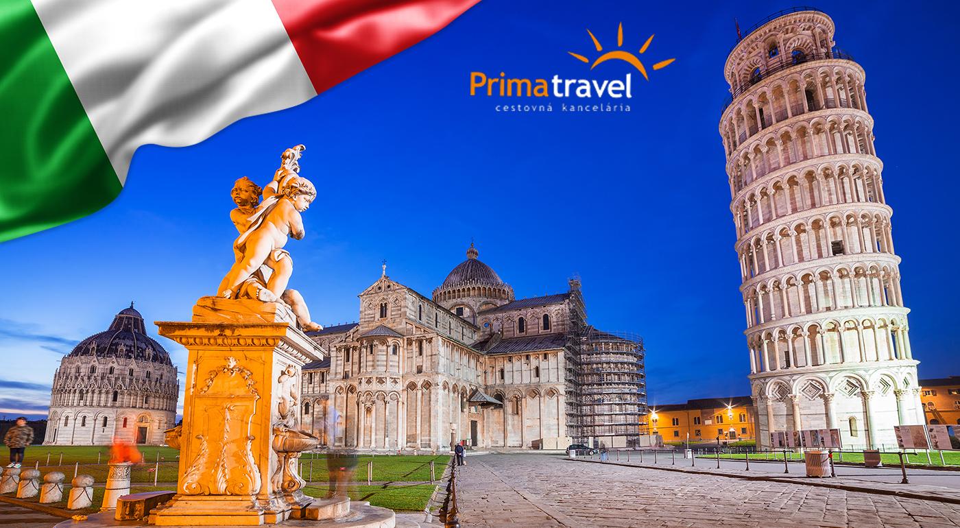 4-dňový poznávací zájazd do Talianska. Navštívite ostrov Elba, Florenciu a šikmú vežu v Pise
