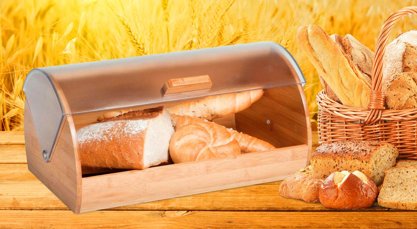 Bambusový chlebník uchová pečivo čerstvé a chrumkavé!
