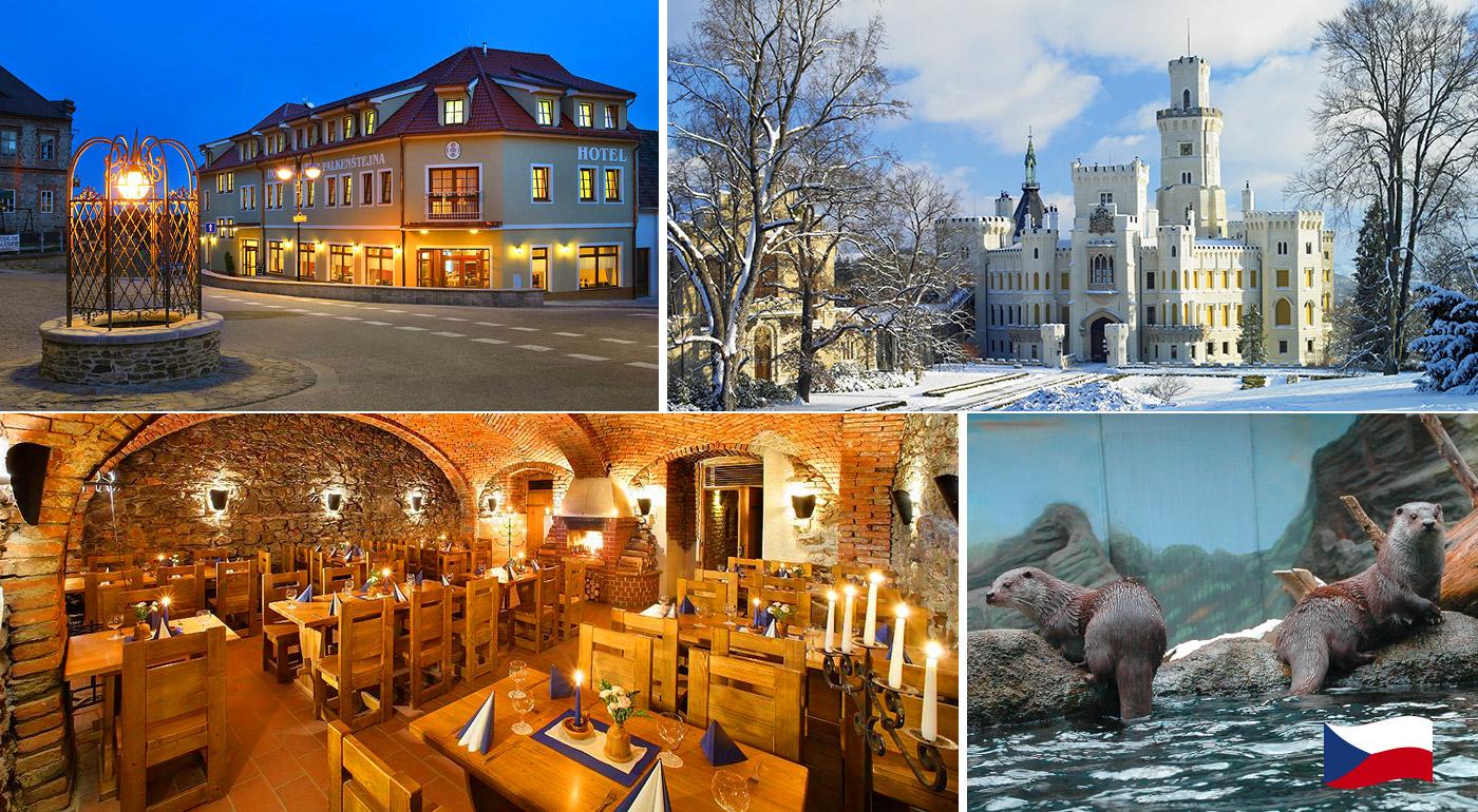 Relaxačné dni v Hoteli Záviš z Falkenštejna**** priamo pod romantickým zámkom v Hlubokej nad Vltavou. Deti do 6 rokov zadarmo!