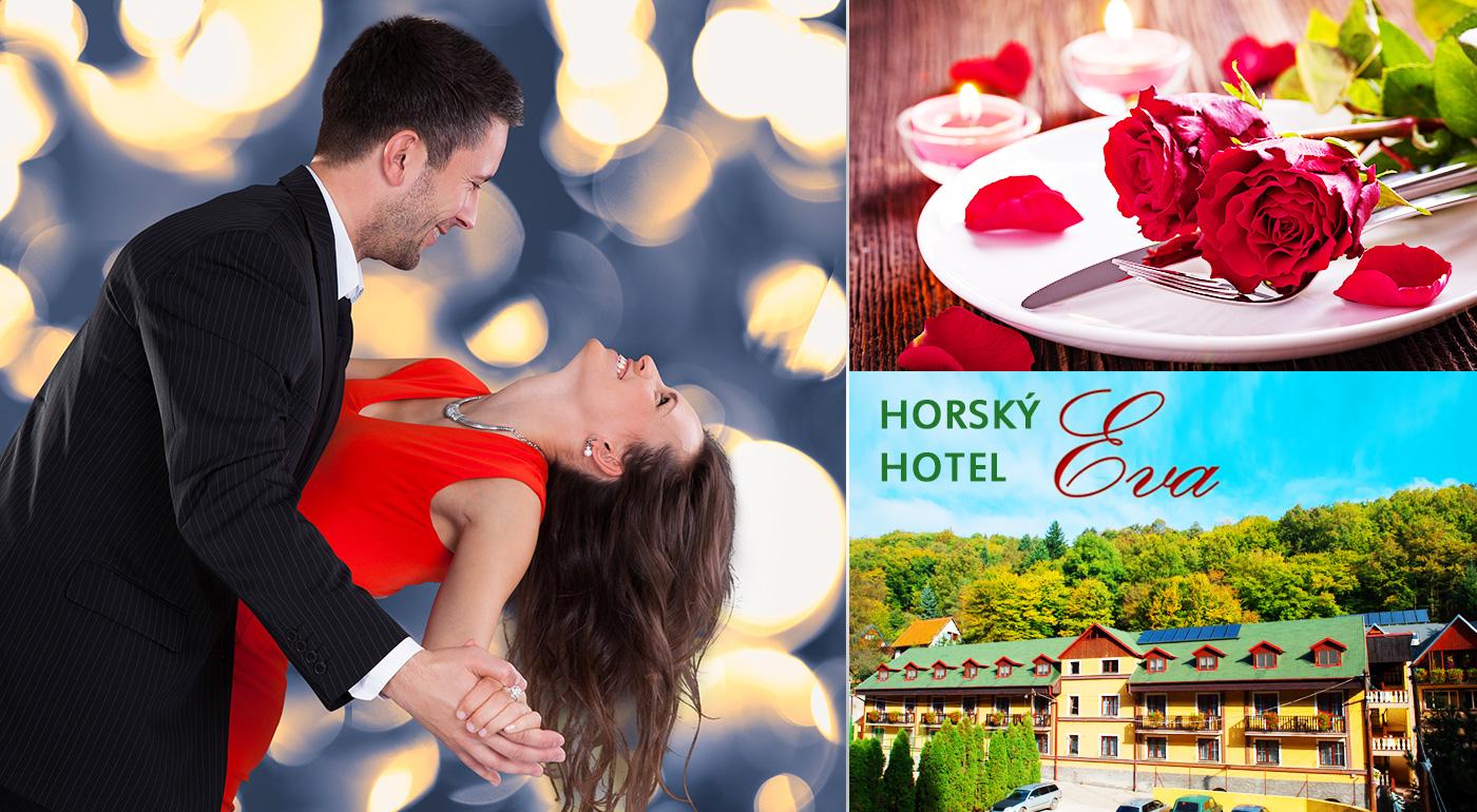 Romantický víkend pre dvoch v Horskom hoteli Eva. K tomu chutné jedlo, vstup do relax zóny a sauny!