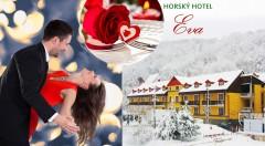 Zľava 49%: Romantický sviatok zamilovaných v krásnom prostredí Malých Karpát s valentínskym plesom ponúka Horský hotel Eva už od 69 € pre dvojicu vrátane chutného jedla a vstupov do relax zóny a sauny.