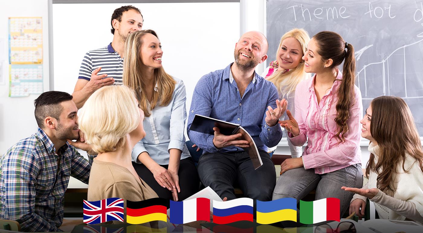 Fotka zľavy: Kurz angličtiny, nemčiny, francúzštiny, ruštiny, ukrajinčiny alebo taliančiny v trvaní 4 týždňov v počte 8 hodín v Bratislave len za 19,90 €. Rozšírte svoje možnosti vďaka jazykovej znalosti!