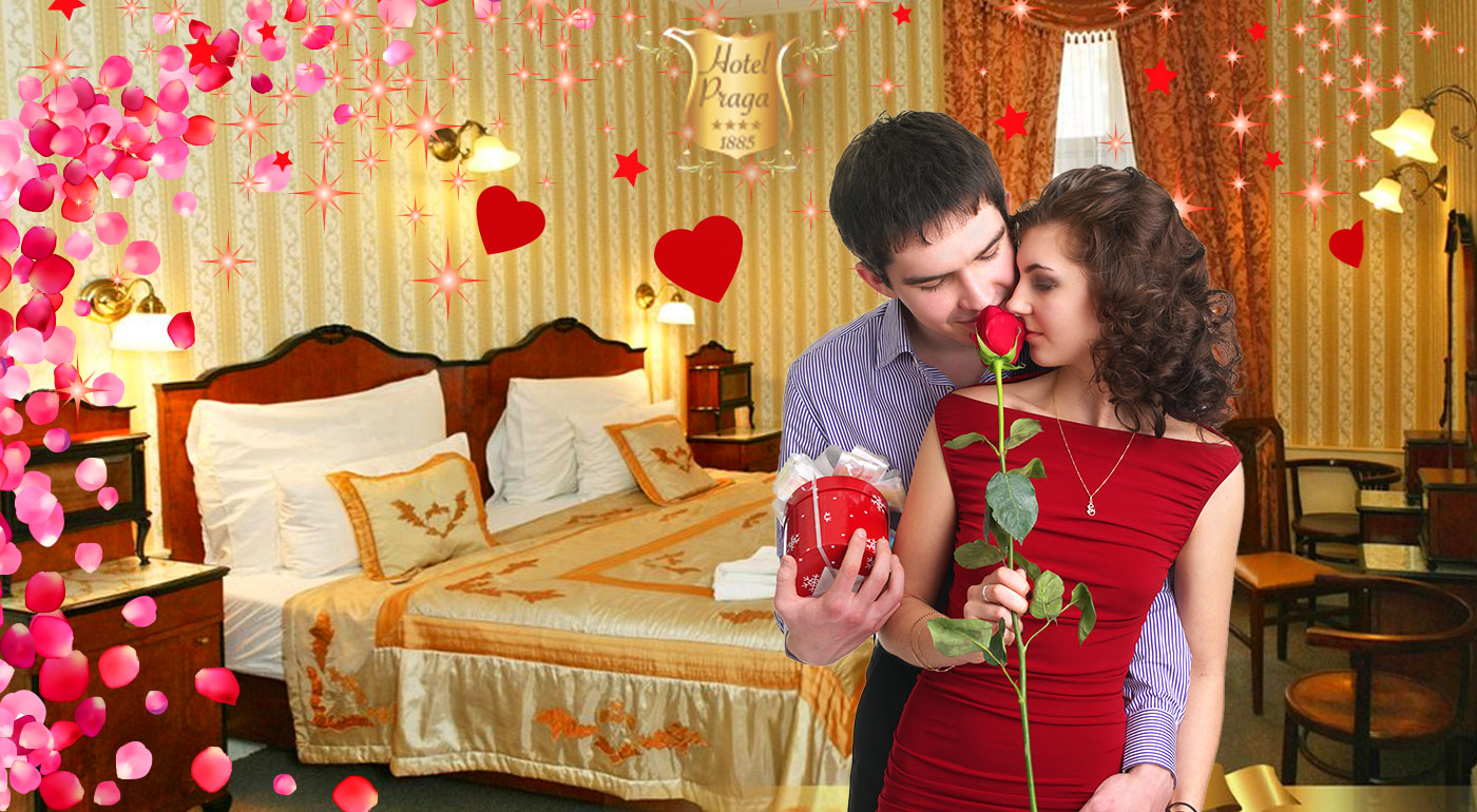 Valentínsky pobyt v historickom Hoteli PRAGA 1885**** pre dvoch s raňajkami, slávnostnou večerou a fľašou sektu na izbe
