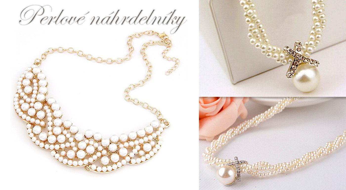 Luxusný náhrdelník vykladaný perlami, ktorý upúta oko každej ženy!
