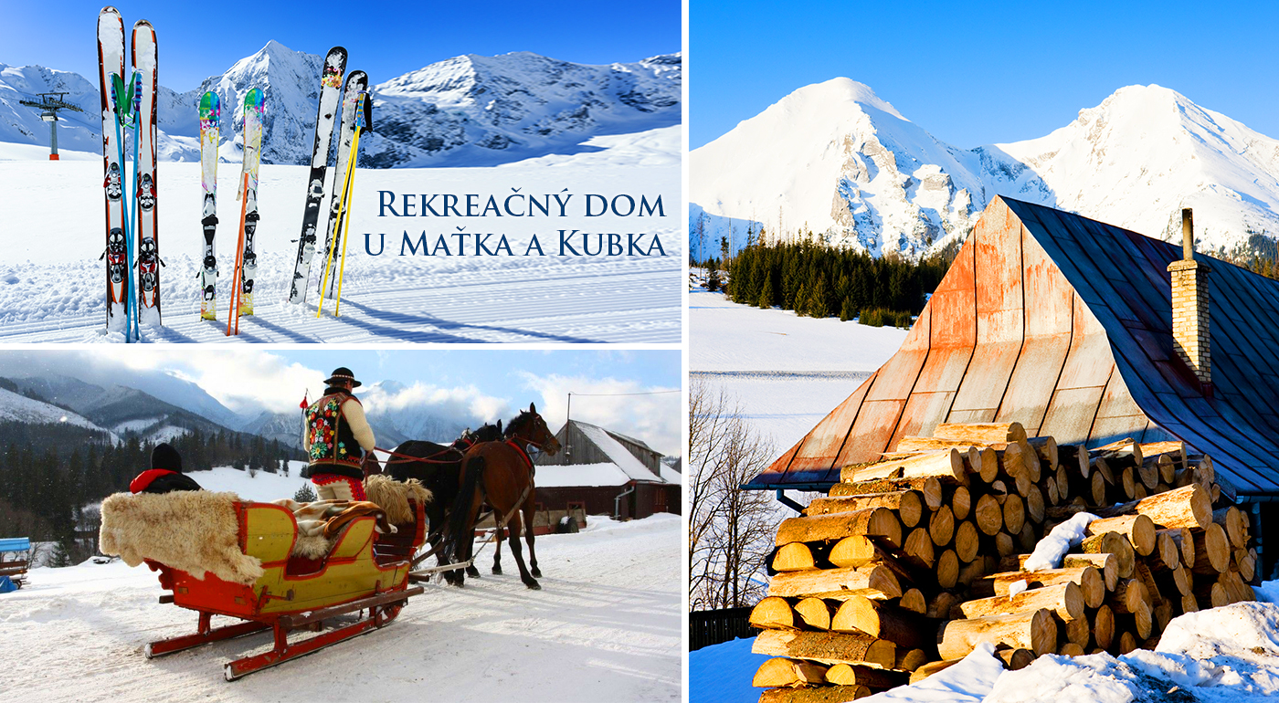 Zima v lone Belianskych Tatier pre dvoch s neobyčajným ubytovaním v nádhernej prírode so skipasom na lyžovačku a jazdou na saniach