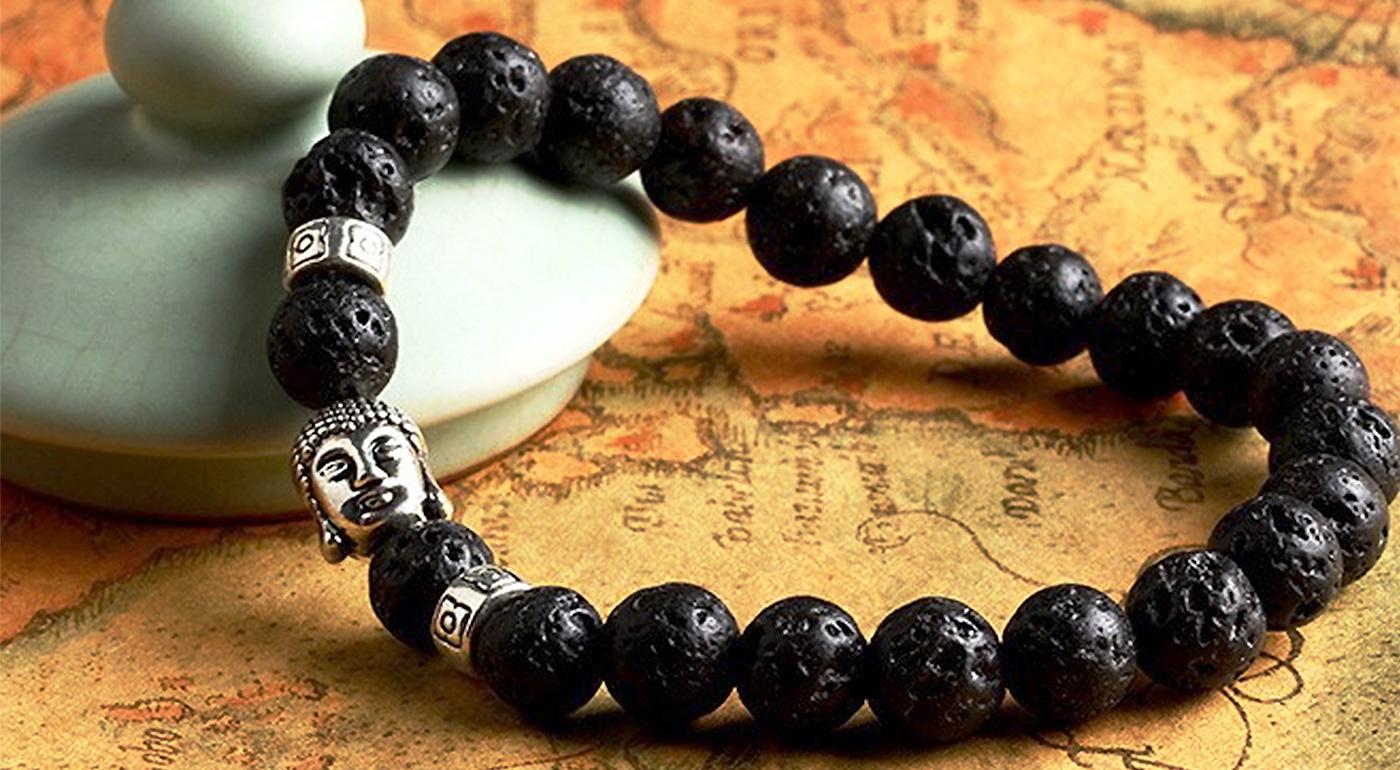 49af54674 Buddha náramok s prírodnými kameňmi - nakombinujte si farby pre vyrovnanosť  a šťastie!