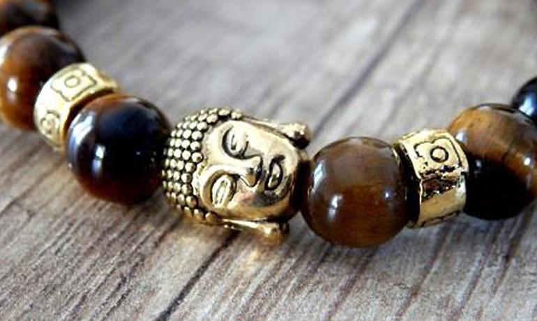 e4e68f47b Buddha náramky - na výber v prevedeniach. zlaté: láva; tigrie oko; onyx