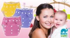 Zľava 53%: Detské látkové eko plienky BoboLider s vkladačkou len za 6,99 €, ktoré šetria vašu peňaženku i životné prostredie. Príjemný materiál, nastaviteľná veľkosť a moderný dizajn s výberom z 10 farieb.