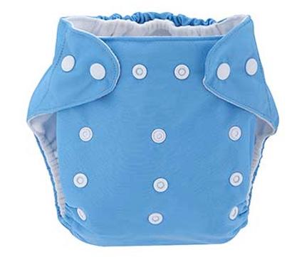 Detská látková eko plienka, farba slabo modrá + vkladačka
