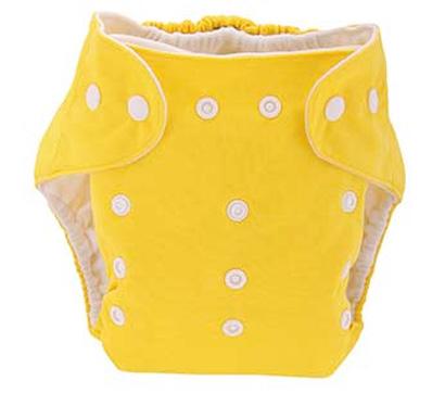 Detská látková eko plienka, farba žltá + vkladačka