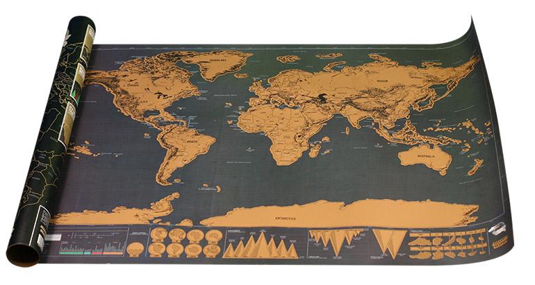Stieracia mapa sveta Deluxe edícia