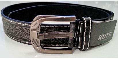 Pánsky kožený opasok s oceľovou prackou - model B