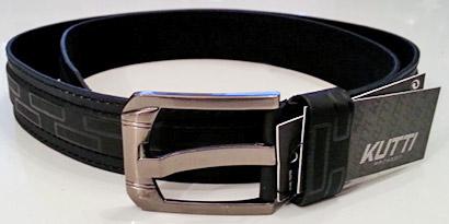 Pánsky kožený opasok s oceľovou prackou - model D