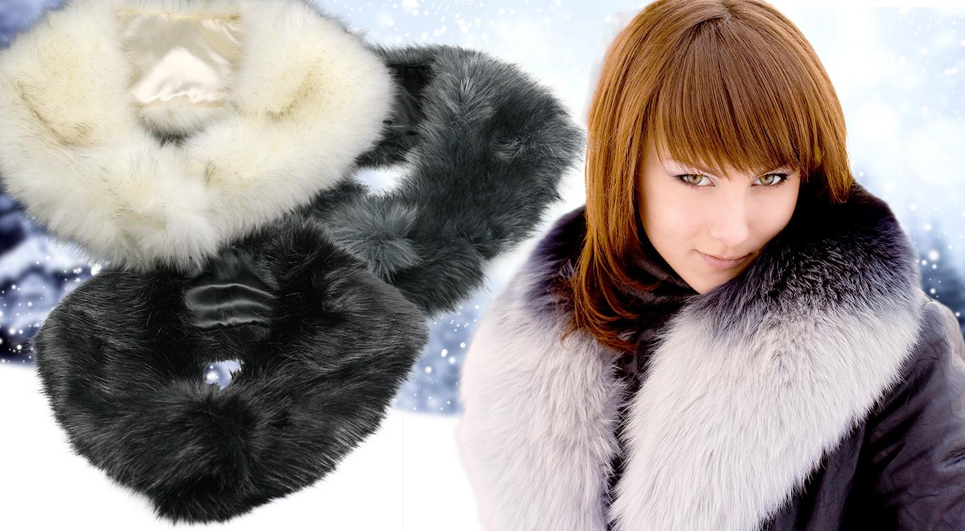Rozžiarte zimu aj váš šatník s krásnym kožušinkovým golierom!