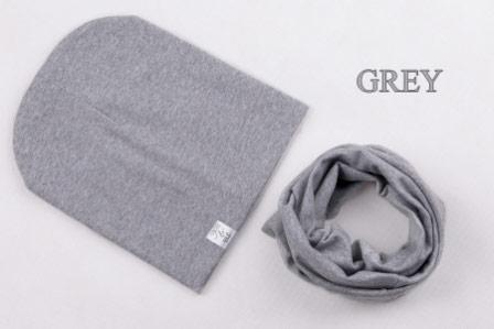 Set: čiapka a nákrčník pre deti a tínedžerov - grey