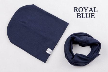 Set: čiapka a nákrčník pre deti a tínedžerov - royal blue