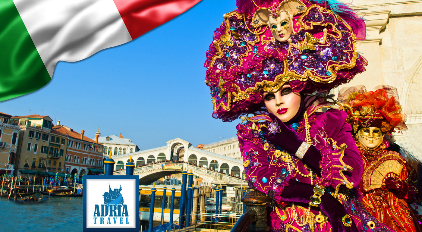 Zájazd do Benátok v čase slávneho karnevalu s návštevou jazera Bled a zámku Miramare