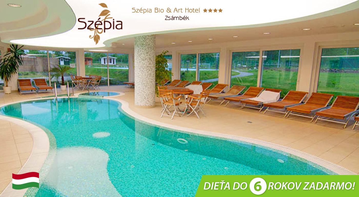 Wellness zážitok v Szépia Bio & Art Hotel**** v maďarskom Zsámbék pre dvoch