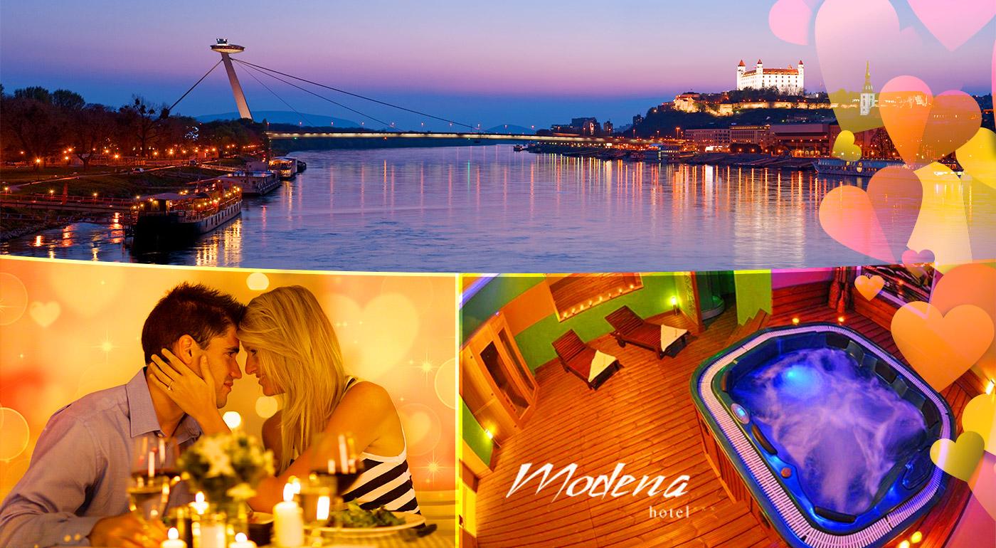 Hotel Modena*** v Bratislave - romantický pobyt pre dvoch s ubytovaním, raňajkami, večerou a vstupom do fitness!