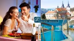 Zľava 38%: Grand hotel**** - prežite 3 romantické dni v srdci historického českého mesta Třebíč s pamiatkami UNESCO len za 109 € pre dvoch s raňajkami, romantickou večerou pri sviečkach či bazénom.