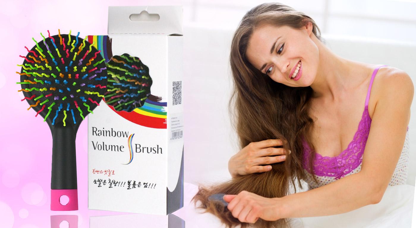 Dúhová kefa na vlasy Rainbow Volume S Brush