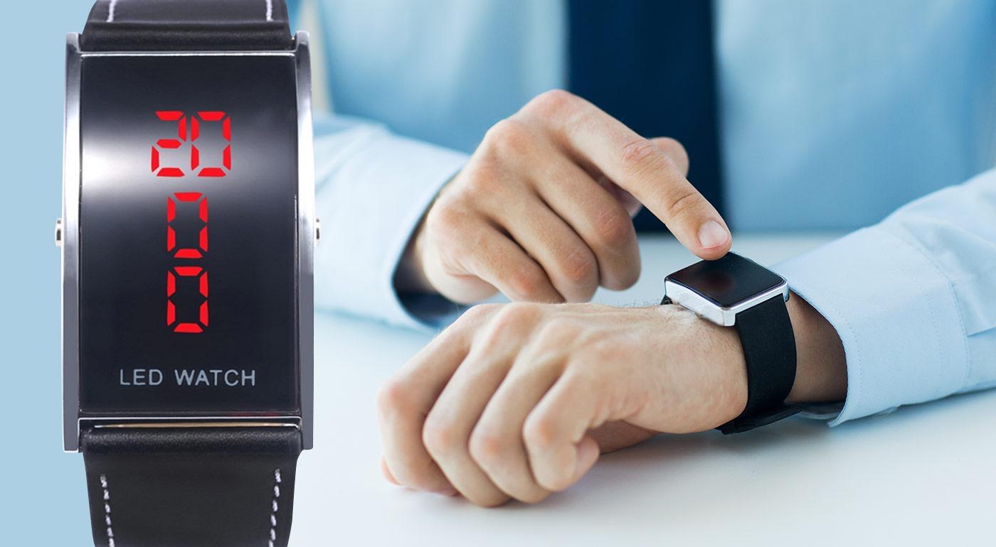 Pánske digitálne LED hodinky na ruku